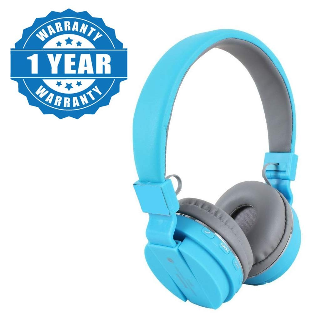 esportic SH-12 Wireless Bluetooth Headphones with Built in Mic/Portable and Fordable/SD Card Slot Compatible with Android, iOS & Windows Devices (Random Colour)