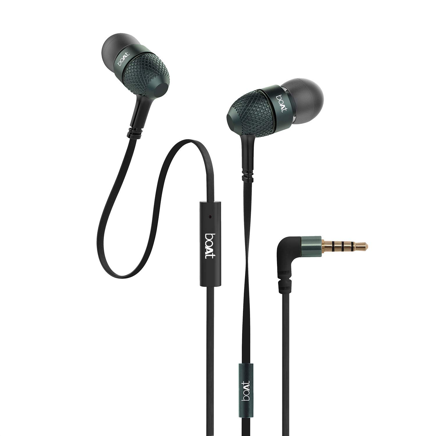 BassHeads 225 in-Ear Wired Earphones with Super Extra Bass, Metallic Finish with mic-Assorted