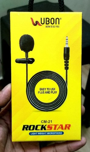 Wired Ubon Collar Mic Mobile Mic, Model Name/Number: Cm-21